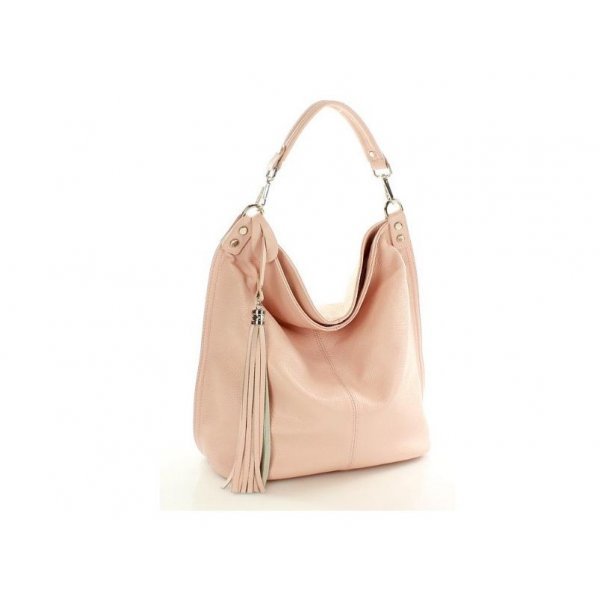 8597f29a26d9 Kožená ružová kabelka MAZZINI S105G - ALIBA.sk