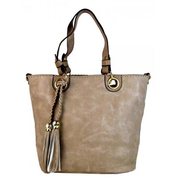Elegantná kabelka na rameno 2181BB prírodná hnedá - ALIBA.sk e3ee73aca58